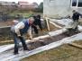 Aanleg betonpad zigeunerkamp